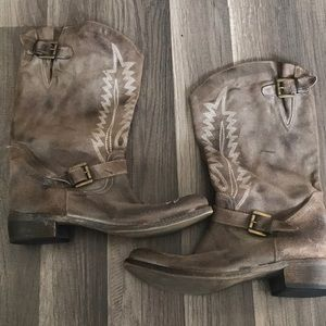 Steve Madden Vera Gomma Madein Italy Cowgirl Boots